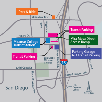 Miramar transit center map