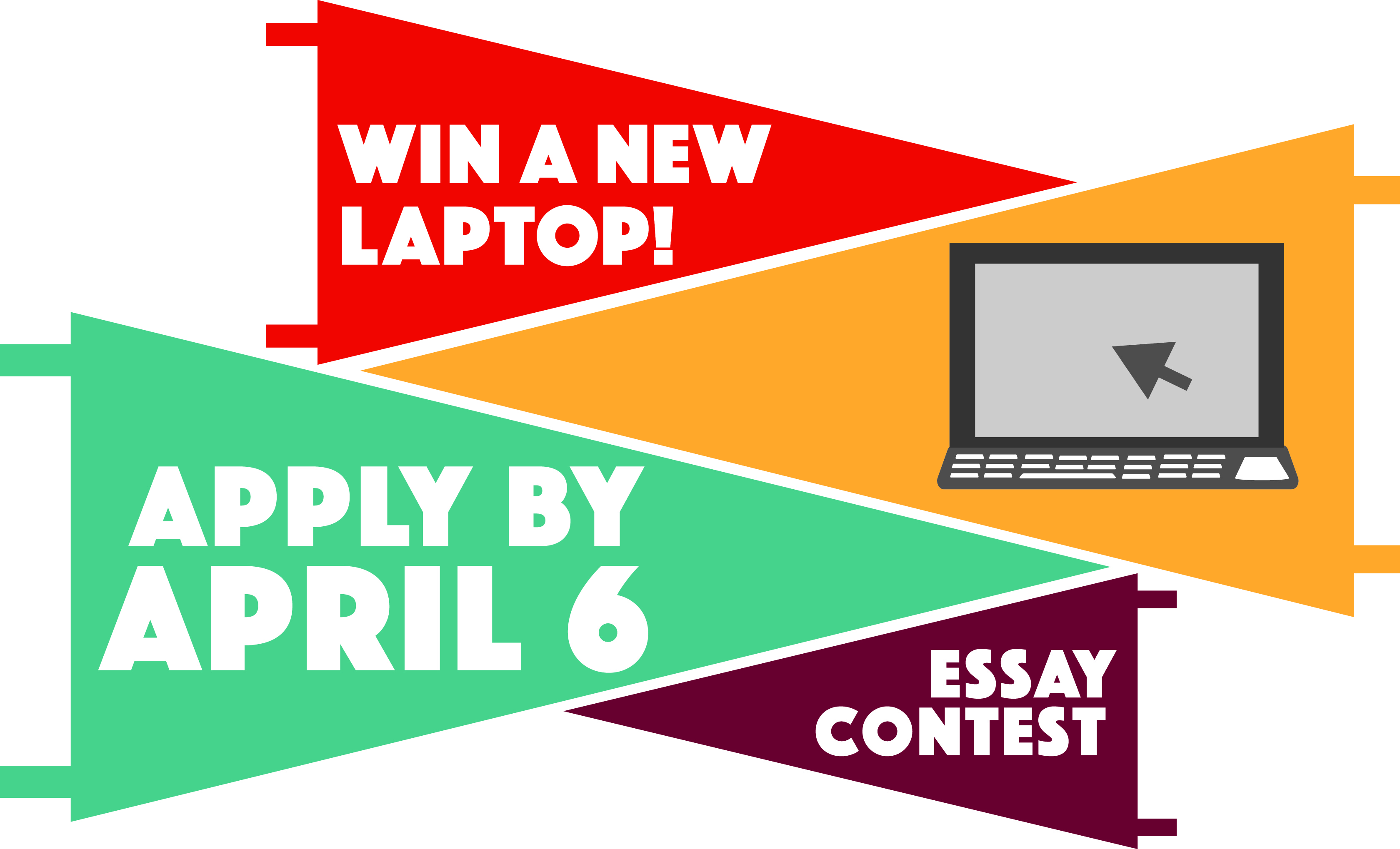 essay laptop contest college An essay contest in three stages open to all current full-time registered students in an undergraduate architecture degree program, undergraduates majoring in architecture, or diploma students in accredited schools of architecture worldwide 25,000 usd purse.