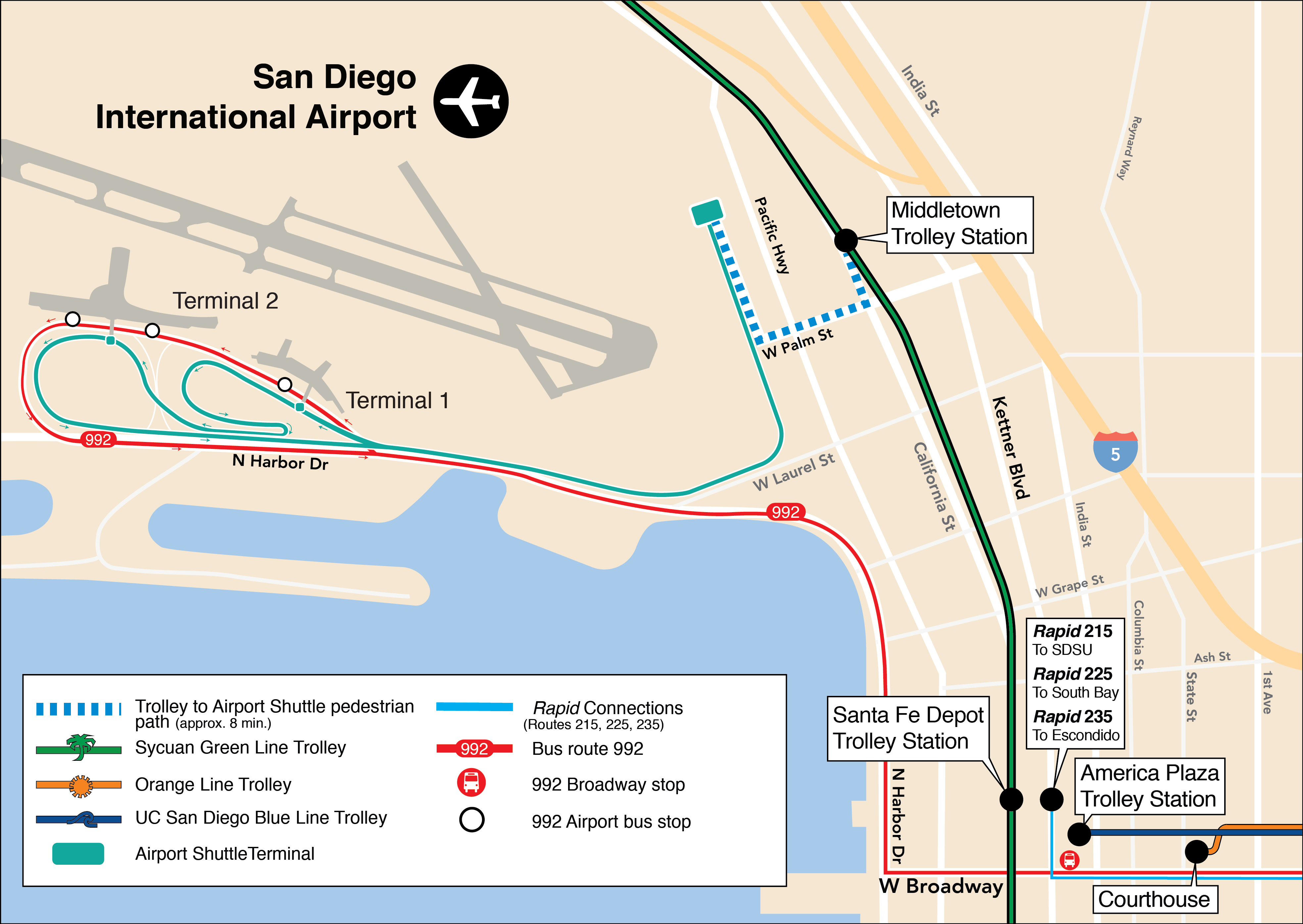 Trolley San Diego Map.Service San Diego Trolley Map Creativehobby Store