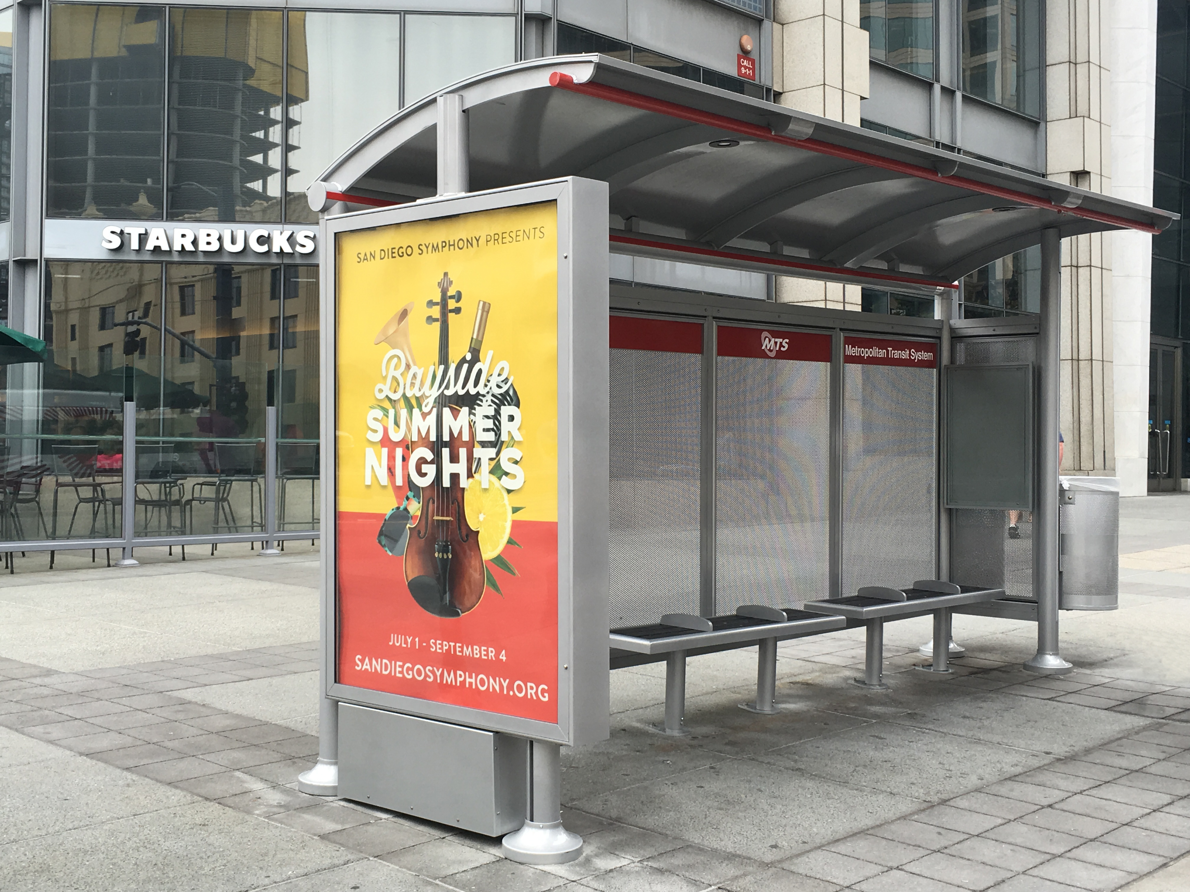 mts installs first of 600 new bus shelters slated for san diego