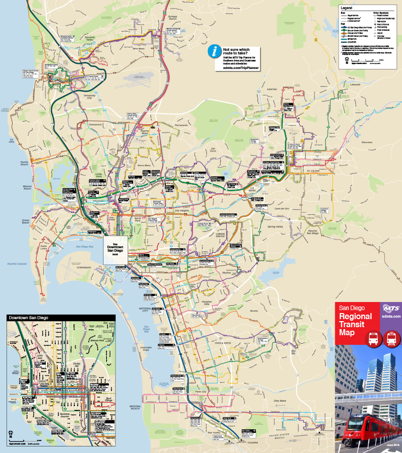 San Diego Map Maps and Routes | San Diego Metropolitan Transit System San Diego Map