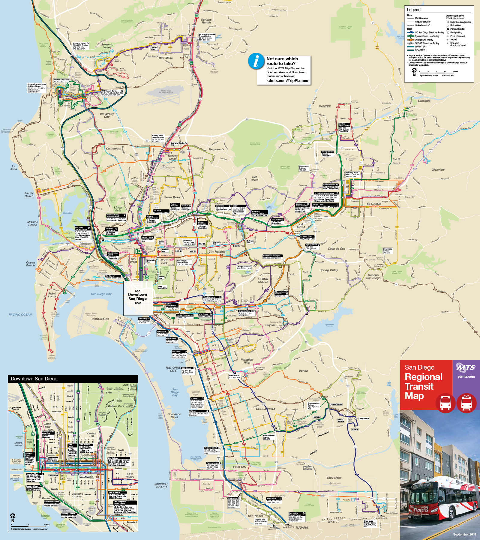 Maps and Routes | San Diego Metropolitan Transit System